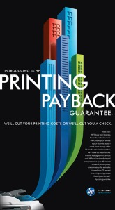Printing Payback ad for HP