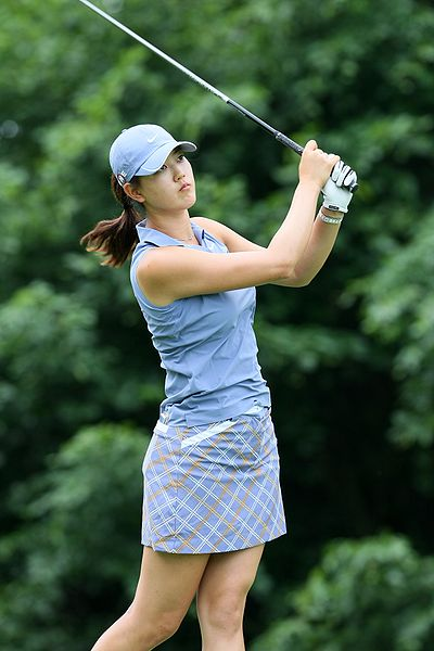 Not as good as Michelle Wie. Yet.